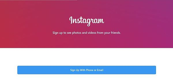 create an account on Instagram