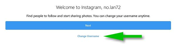 change your instagram username