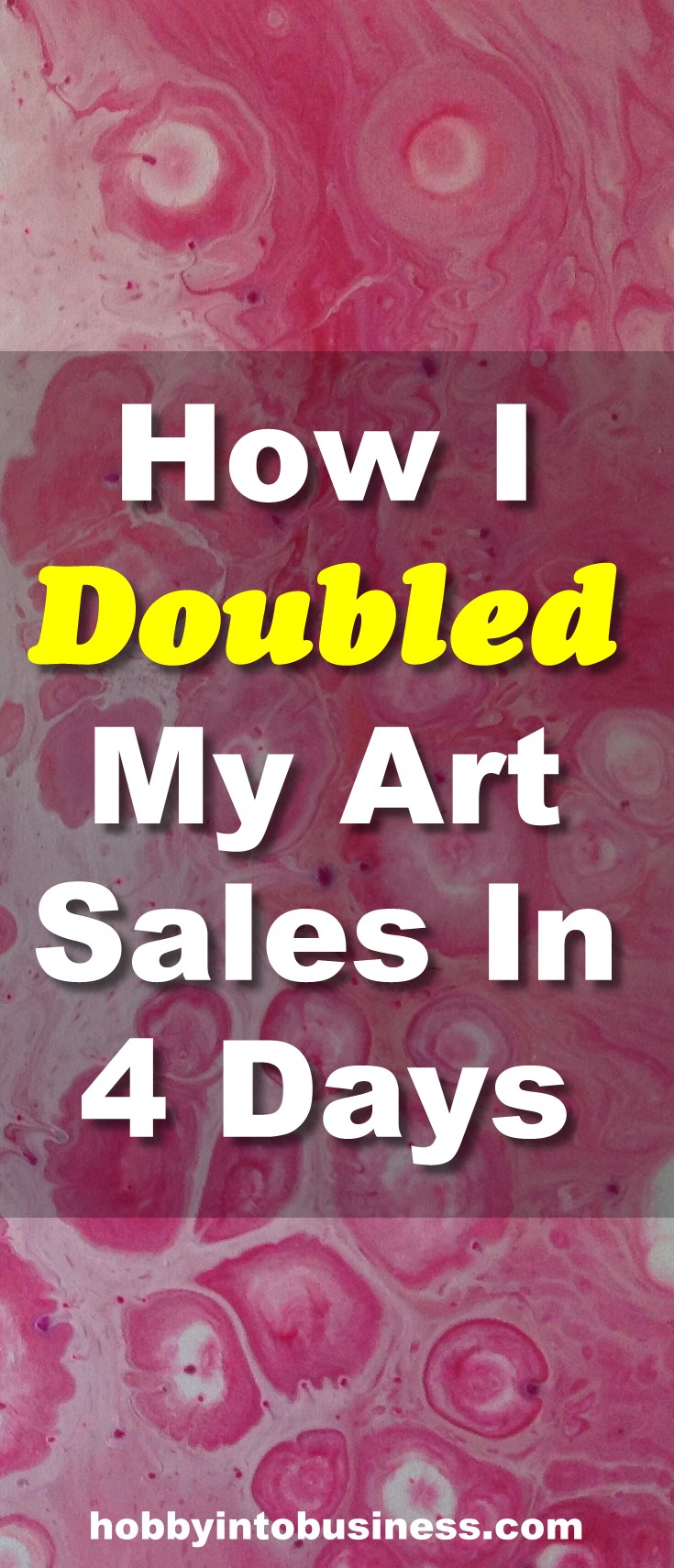 Learn how I doubled my art sales in 4 days by doing this super simple experiment. This technique can work for any type of art you want to sell.